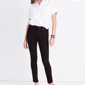 """NWT Madewell 9"""" High-rise Skinny Black Jeans"""